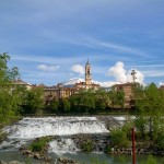 Ivrea slalom background view