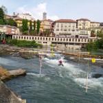 Ivrea canoe slalom start