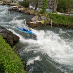 Canoe slalom first big drop