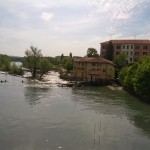 Ivrea canoe slalom warm-up + start